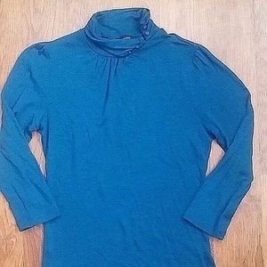 Banana Republic Knit Top Teal Wool Size XS Teal